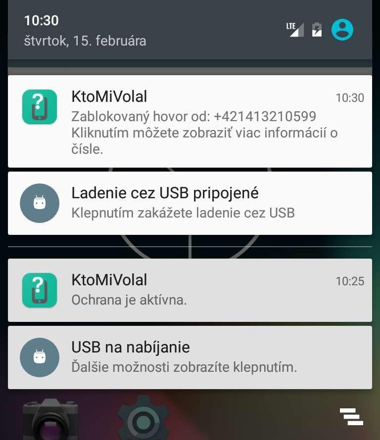 Notifikácia zablokovanie telefónneho čísla
