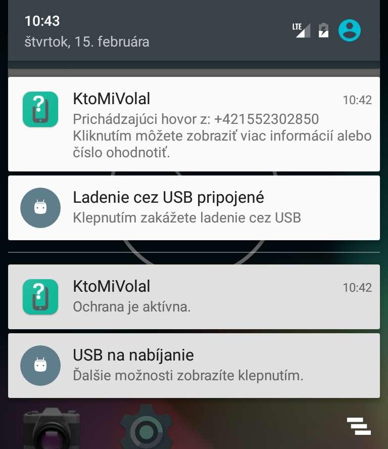 Notifikácia o aktívnu kontrole