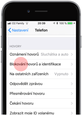 Blokovanie hovorov a identifikácia
